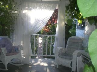 Covered Gazebo that is out door space along with open private patio totaly private area for  guests