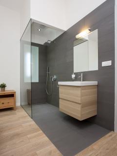In-bedroom shower