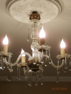 Chandelier over Dining Area
