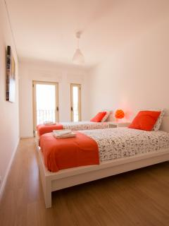 Bedroom with double beds