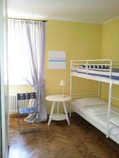 Second bedroom with one bunk bed and one single bed