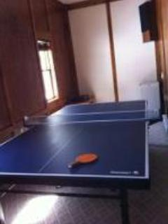 Foldable ping pong table and futon bed *not seen*