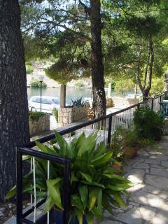 terrace under three pines