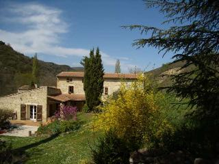 luxury stone house, pool, romantic grounds/views, Bouriege