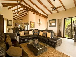 Spacious living area w/vaulted ceilings