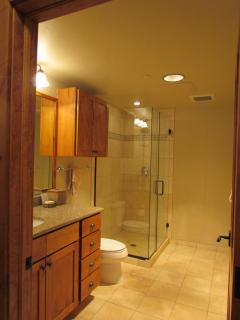 Second Bath with Glass Shower