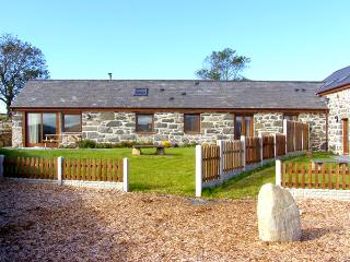 Y BEUDY, semi-detached barn, single-storey, WiFi, woodburner, beams, in