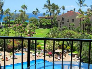 2B/2B ocean view unit by the pool and across the street from Kamaole III, Kihei