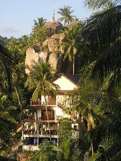 Koh Tao Star Villa as seen from the other side of the valley.  It is surrounded by nature.