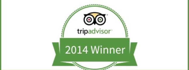 TripAdvisor's award for 2014 Certificate of Excellence