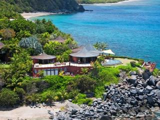 Luxury 5 bedroom Virgin Gorda, BVI villa. Private Beach, Chef and Spa/Yoga Pavilion, Nail Bay