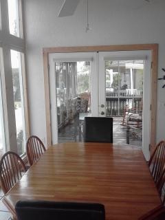 dining area looking into screened porch