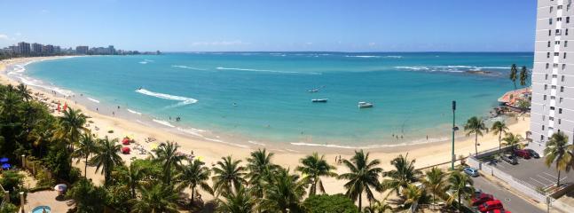 Panoramic View of Beach from Balcony