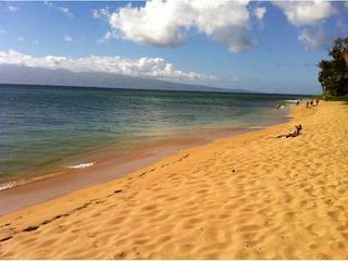 The beach is just across the boardwalk