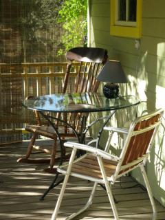 the front porch is another relaxing location at fivespot