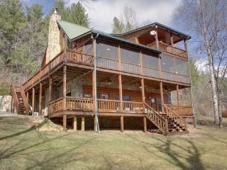 RIVER ESCAPE ON THE TOCCOA- 4 BR/3.5 BA, CABIN ON THE TOCCOA RIVER, RIVERSIDE DECK, WOODBURNING FIREPLACE, POOL TABLE, HOT TUB, GAS GRILL, STARTING AT $225/NIGHT!, Blue Ridge