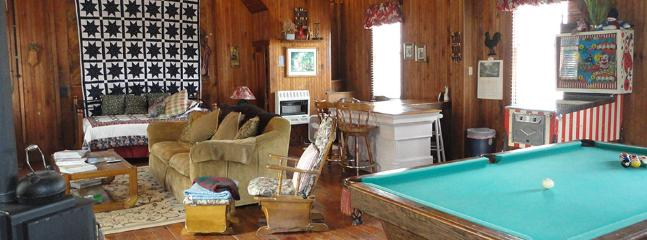 downstairs of the Carriage house, and 4th twin bed