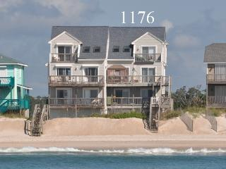 New River Inlet Rd 1176 Oceanfront! | Internet, Jacuzzi, North Topsail Beach