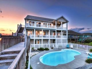 N. Shore Dr. 502 Oceanfront! | Private Heated Pool, Hot Tub, Elevator, Internet, Jacuzzi, Fireplace, Game Equipment, Surf City