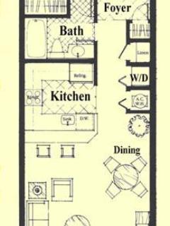 1 Bedroom Pompeii Floorplan