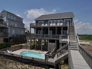 New River Inlet Rd 454 Oceanfront! | Private Heated Pool, Jacuzzi, Internet, North Topsail Beach