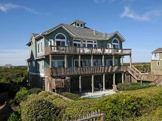 Ocean View Ln 124 Oceanfront! | Private Heated Pool, Hot Tub, Elevator, Jacuzzi, Internet, Fireplace, Linens Provided, Game Equipment, North Topsail Beach