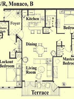 3 Bedroom Monaco Floor Plan