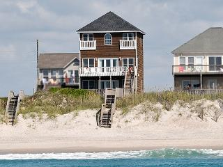Island Drive 4474 Oceanfront! | Internet, Jacuzzi, Electric Fireplace, North Topsail Beach