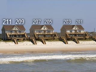 Goldsboro Lane 209 Oceanfront! | Hot Tub, Internet, Jacuzzi Discounts Available- See Description!!, North Topsail Beach