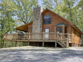 HIS PLACE-2BR/3BA- CABIN SLEEPS 6, PRIVATE, MOUNTAIN VIEW, WIFI, POOL TABLE, AIR HOCKEY, AND A HOT TUB! STARTING AT $150/ NIGHT!, Blue Ridge