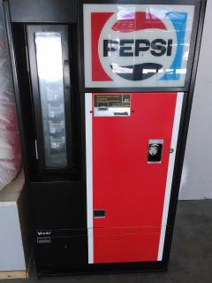 Antique Pepsi Machine. .25 cent sodas.