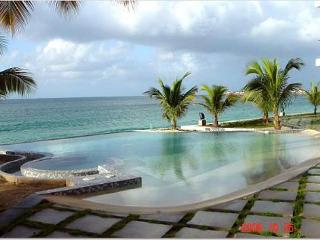 the luxurious, gated courtyard of Las Arenas in Sint Maarten, St. Maarten-St. Martin