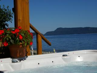 Deluxe Beach Log Home 3rd nite FREE clams/oyster watercraft incl fish from shore, Qualicum Beach