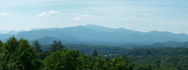 Panoramic view from our back deck.