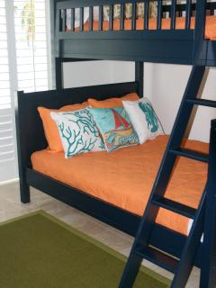 Guest Bedroom with Bunks, Double and Twin