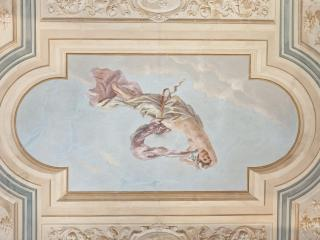 the wonderful frescoes ceiling