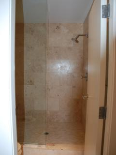 Large walk in rain shower (master bath/loft)