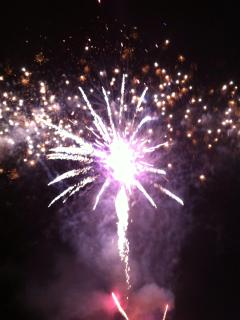 New Years Eve fireworks at Cox Bay Beach!
