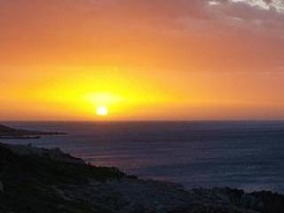 Un coucher de soleil depuis le pont supérieur du côté ouest