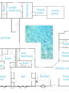 Floor Plan Showing Both Room to Gather and Privacy