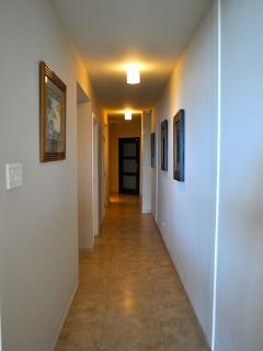Hallway within the unit from the main entrance door