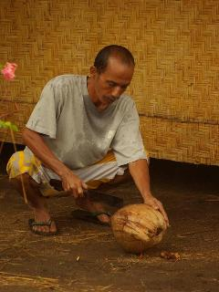 Fresh coconut for the guest
