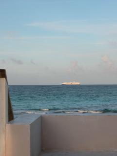 Cruise ship spotting in front of the house