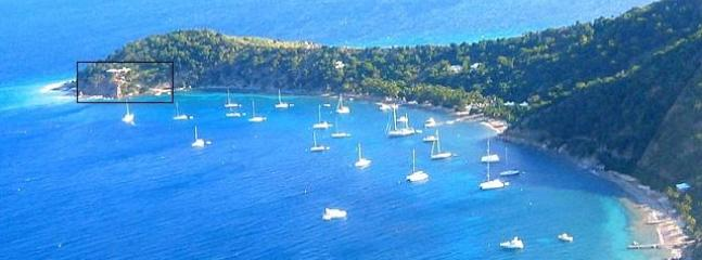 Luchtfoto Quart-A-Nancy Point, Manchioneel Bay, Cooper Island, BVI