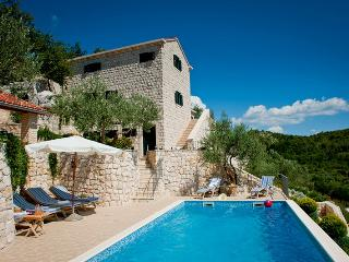 Stone villa with a pool for rent, Makarska area