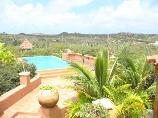 Pool area with panoramic views and stunning sunsets