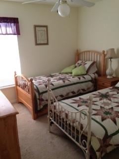 Bedroom 3 with 2 single beds. One is Trundle