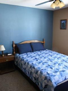 Blue bedroom....ready for a good night's sleep.