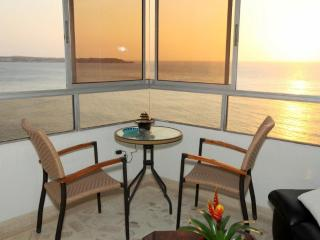 Affordable, modern, beach front apt. w/ocean view.