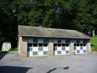 Garage and parking area